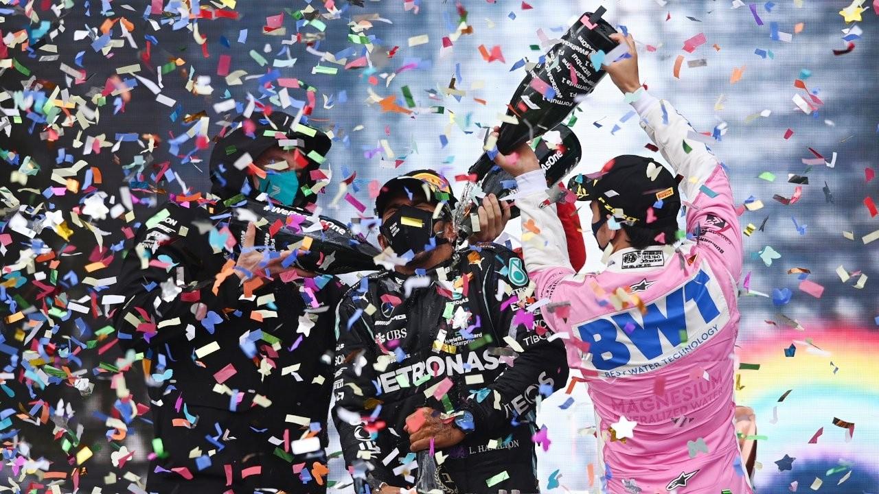 F1 drivers sprayed Sprite instead of champagne at Turkish GP