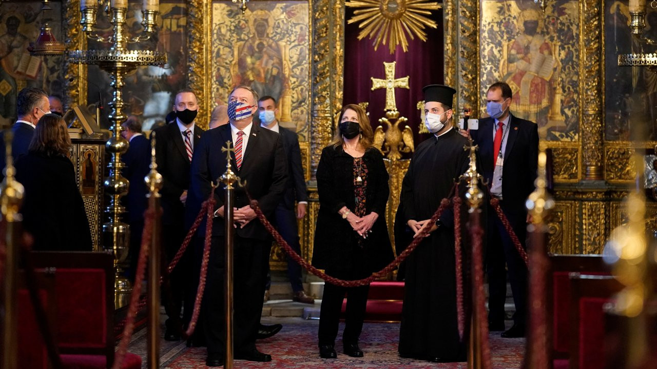 U.S. Secretary of State Mike Pompeo and his wife Susan tour the Patriarchal Church of St. George in Istanbul on Nov 17.