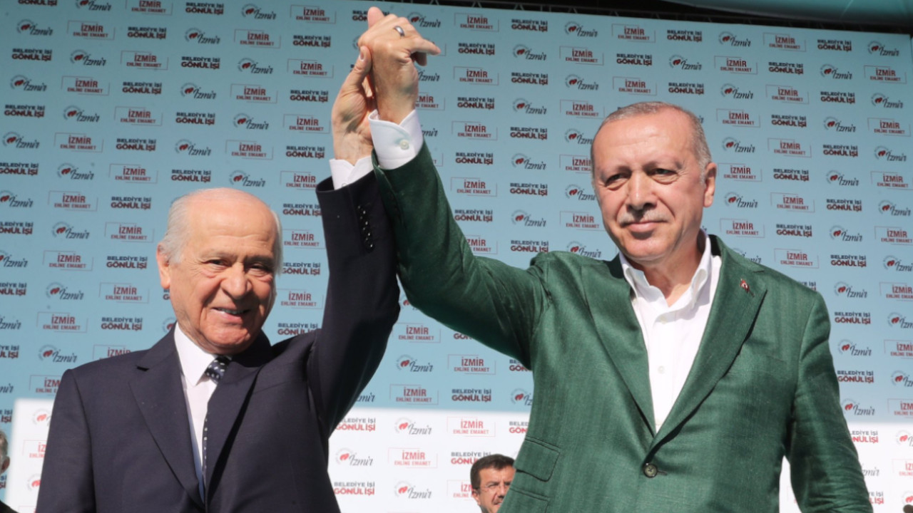 President Erdoğan under the tutelage of ultranationalist MHP's leader Bahçeli