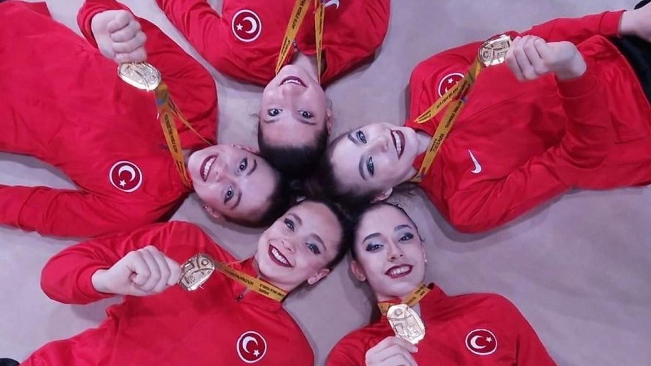 Turkish rhythmic gymnastics team wins European title
