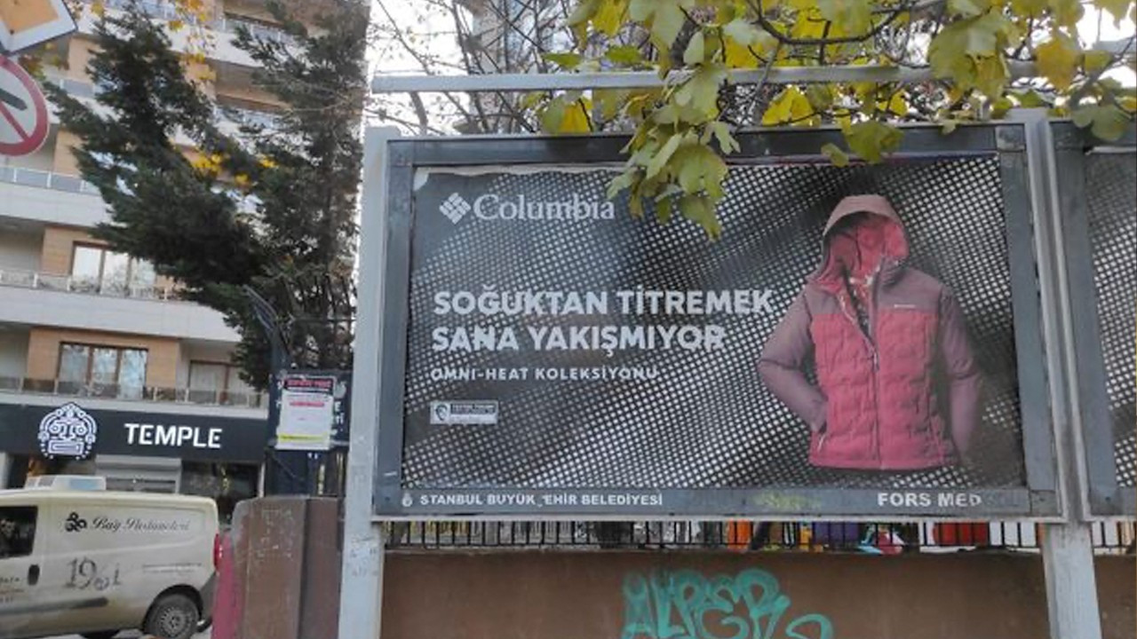 Turks protest outdoor apparel company Columbia's coat ad for being insensitive to poverty in Turkey