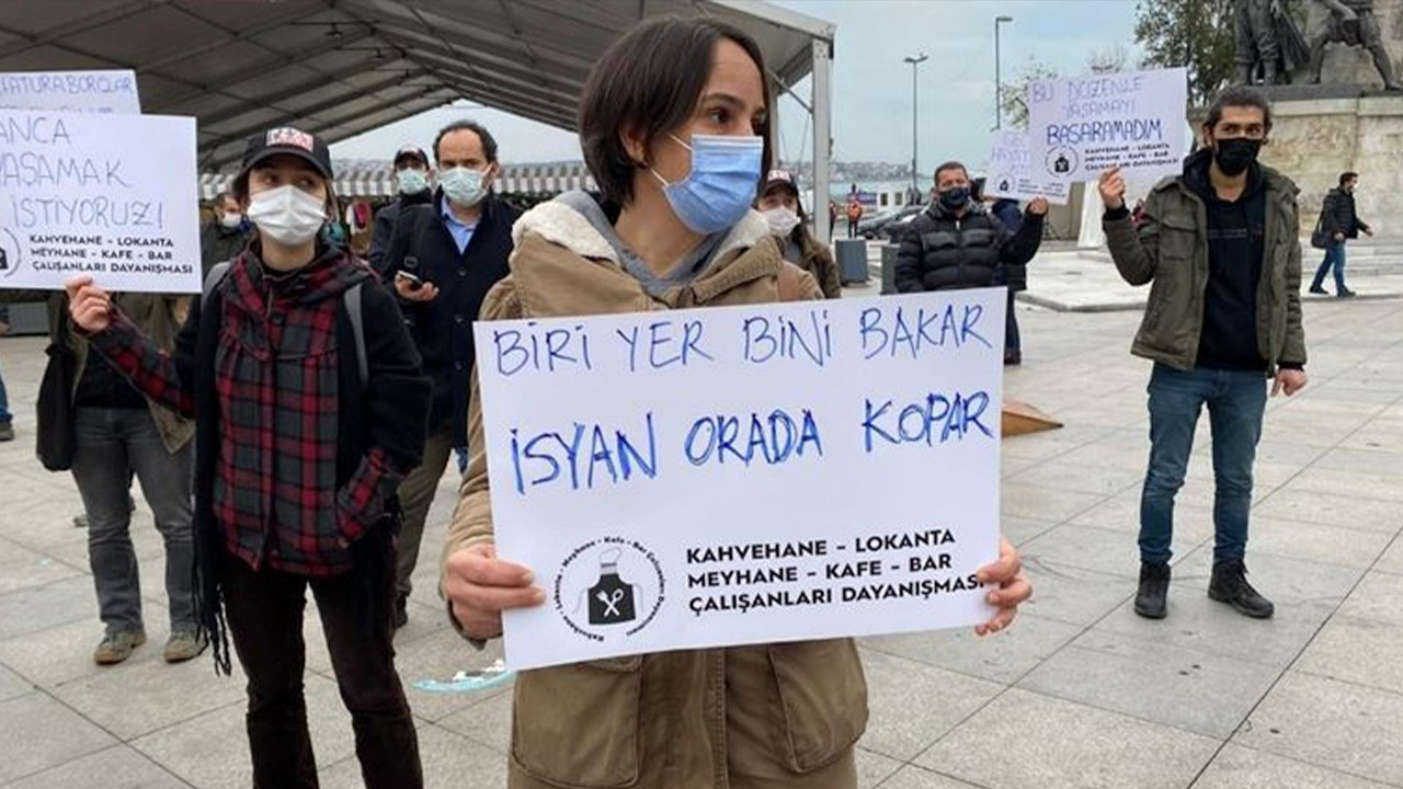 Unemployed workers dedicate protest to musician who died by suicide