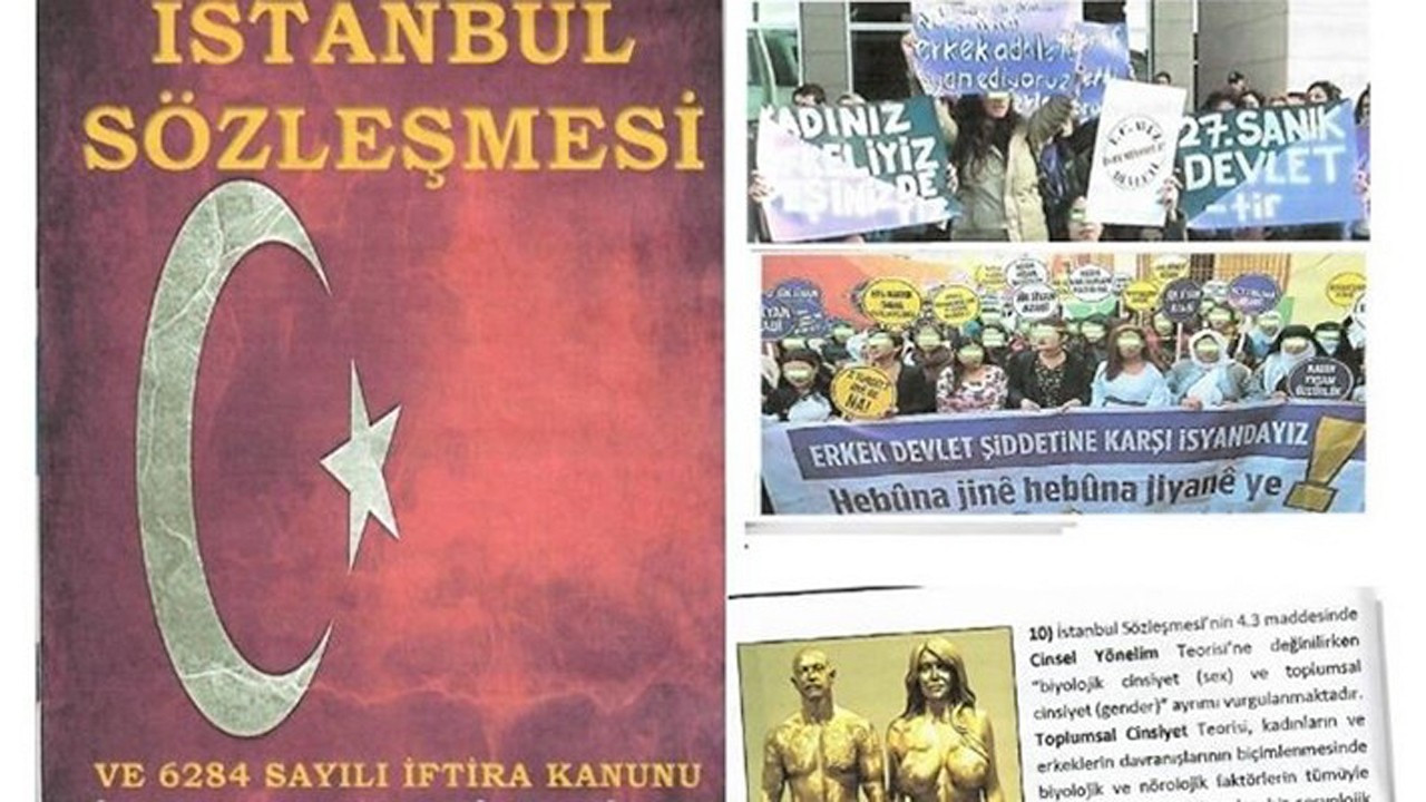 Anti-Istanbul Convention group distributes pamphlets in parliament