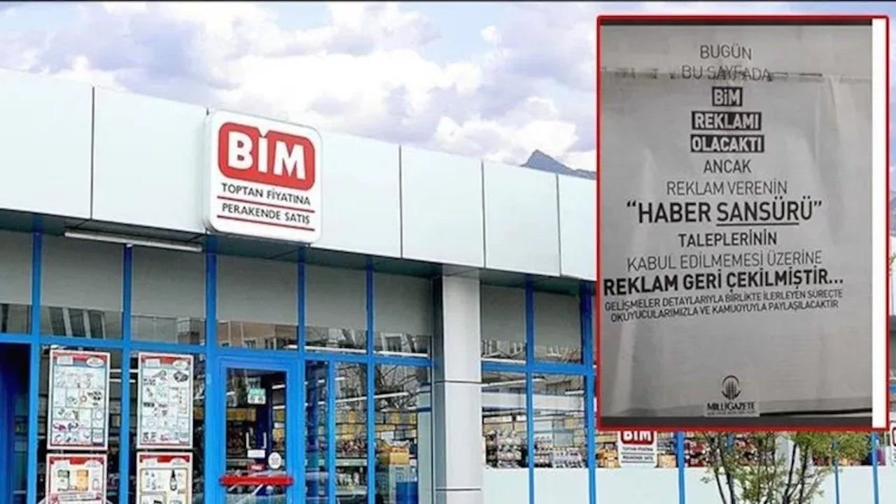 Turkish pro-gov't retail company BİM requires removing article on supermarkets' fraud from daily to give ad