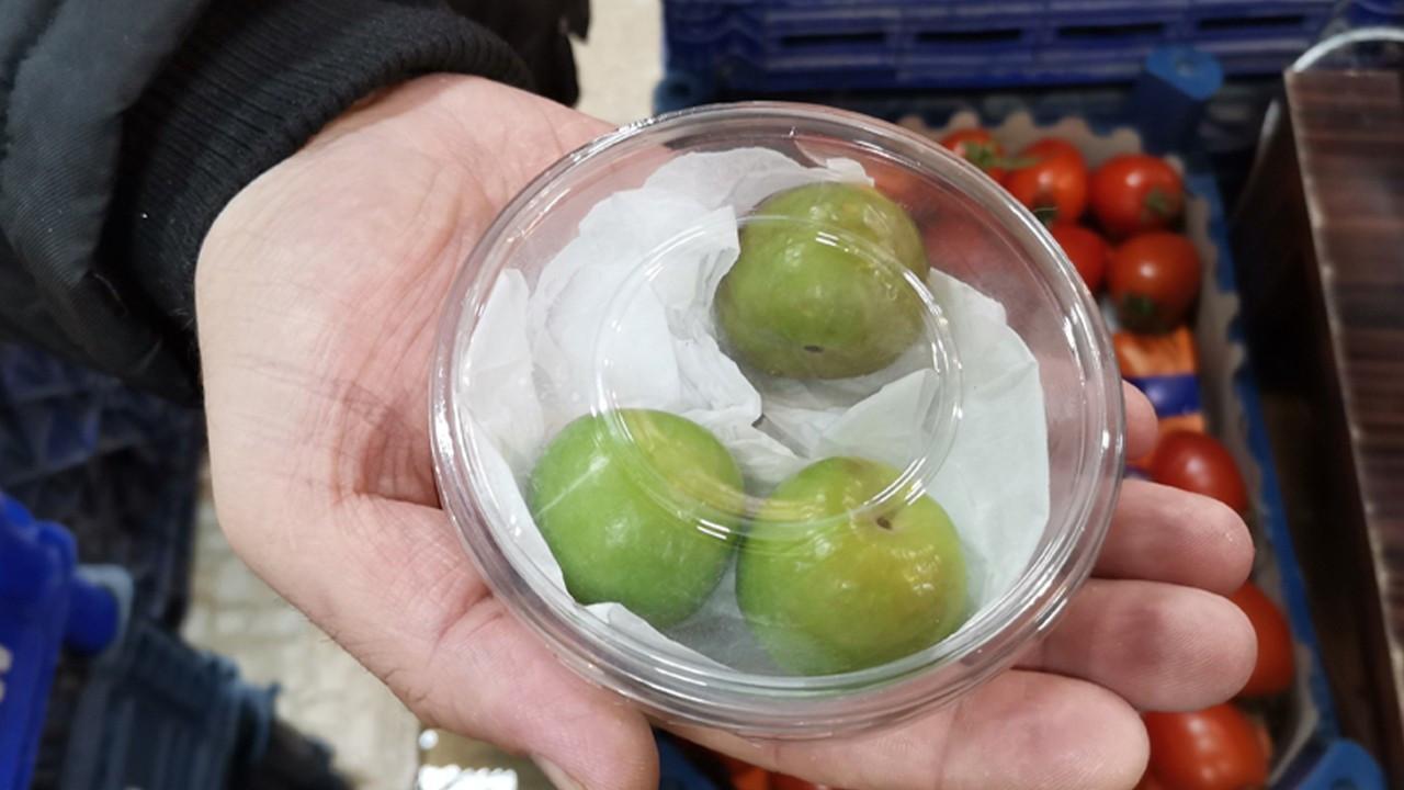 Green plums selling for 1,000 liras per kilo in off-season in Turkey