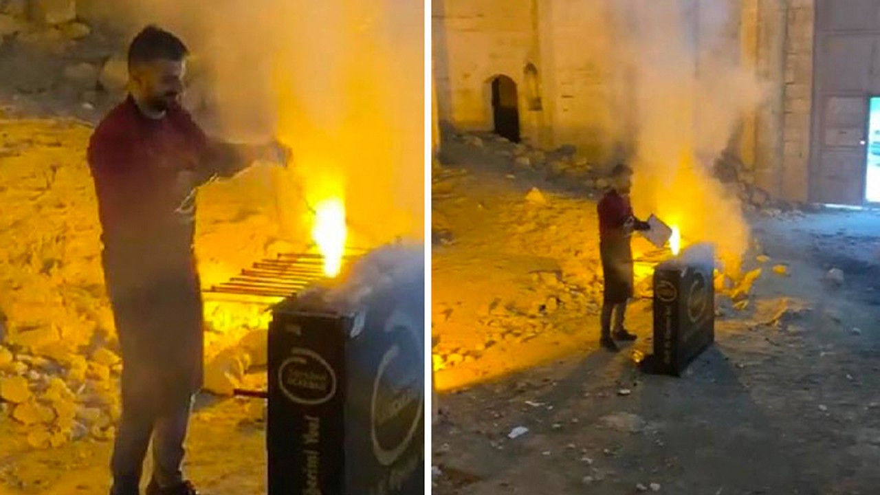 Kebab chef slammed for hosting BBQ in abandoned church in southeast Turkey