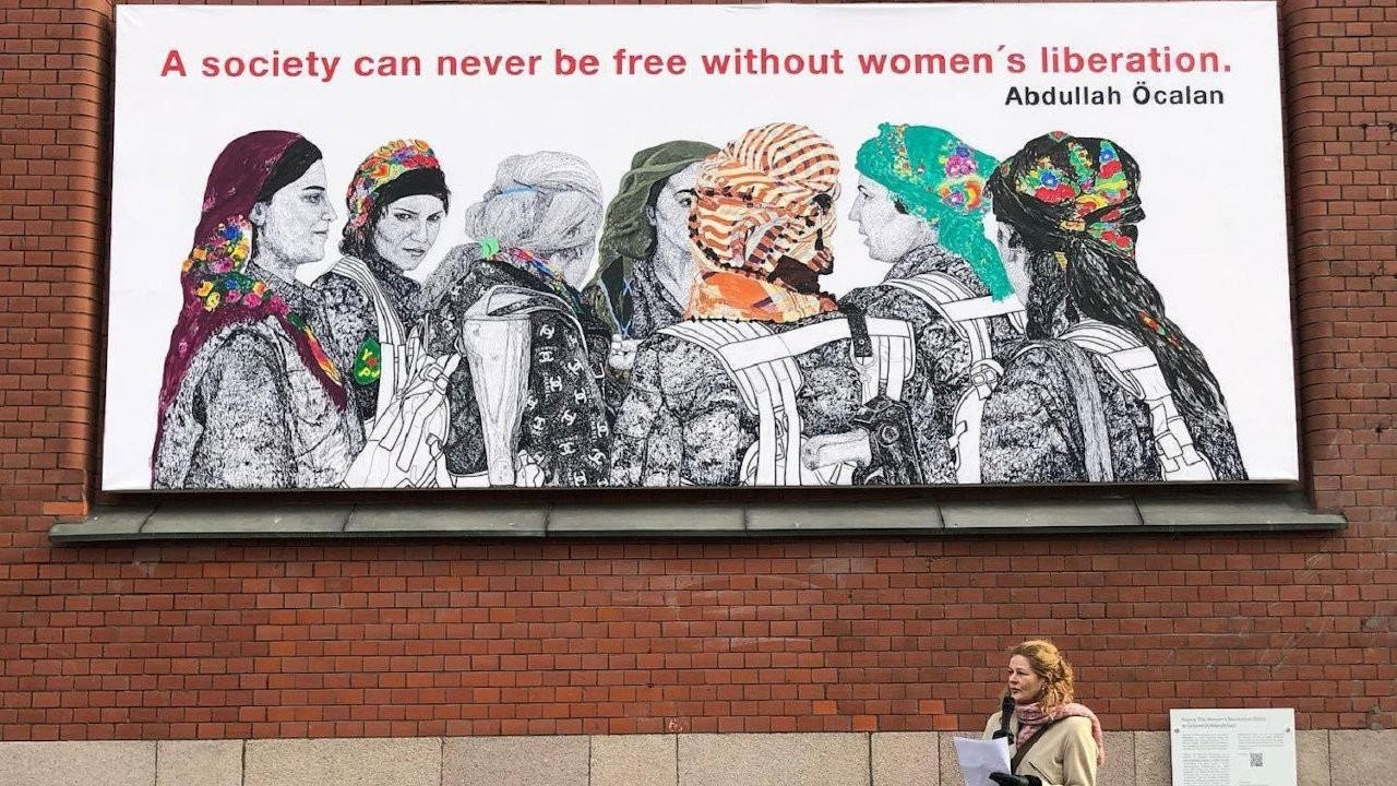 Painting with Öcalan's quote, Kurdish militants in Oslo angers Turkey