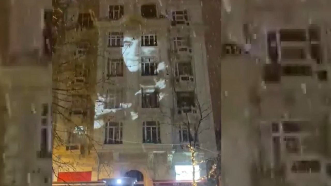 Doves projected onto former Agos building to commemorate Hrant Dink