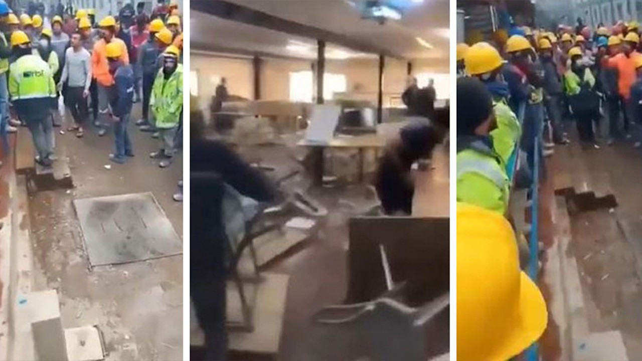 Workers riot against pro-AKP company after discovering worms in food