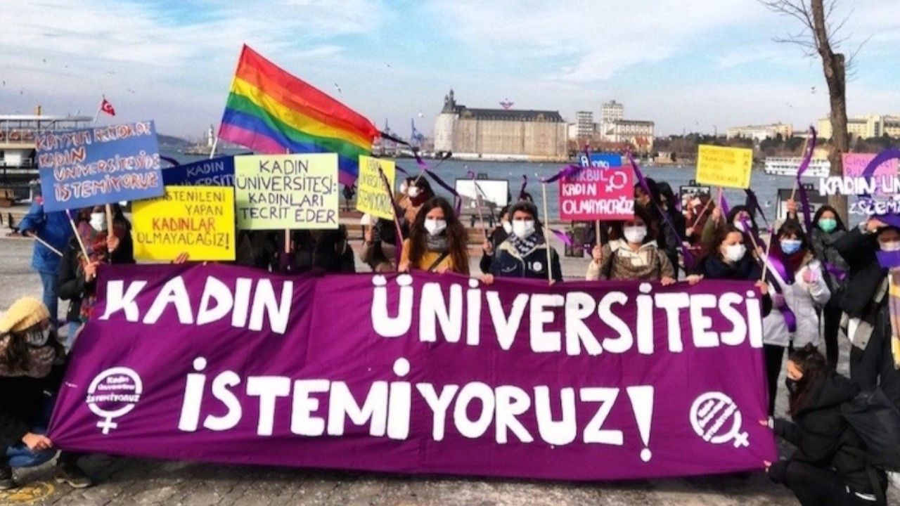 Activists stage protest against Erdoğan's all women's university project after it becomes official