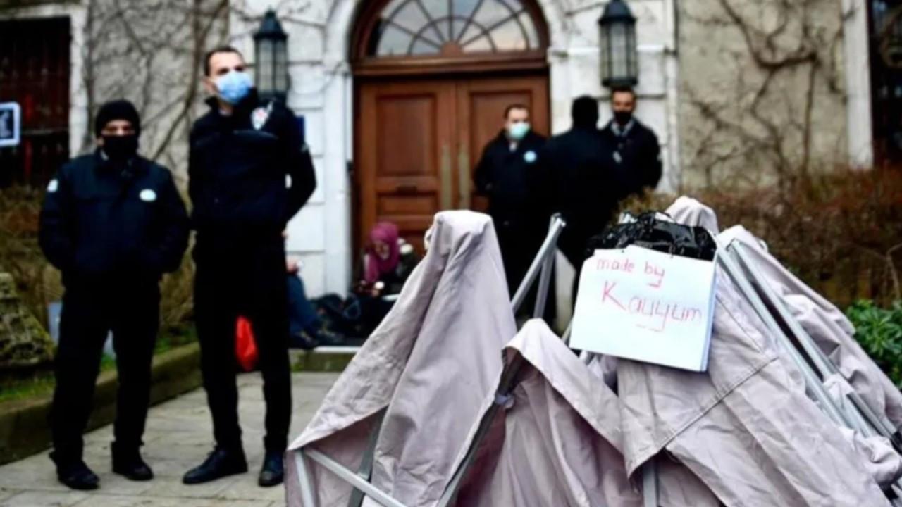 Boğaziçi security staff break students' tent during intervention
