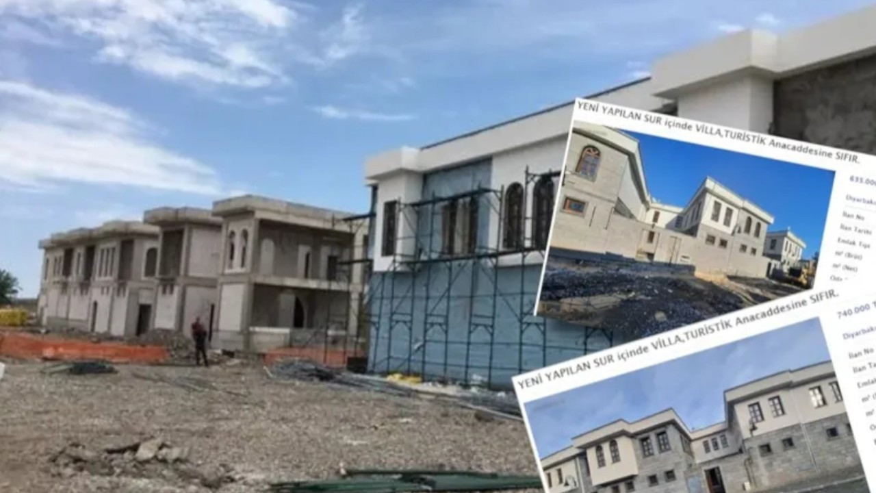 Villas built in forcibly expropriated Sur selling for 1m liras