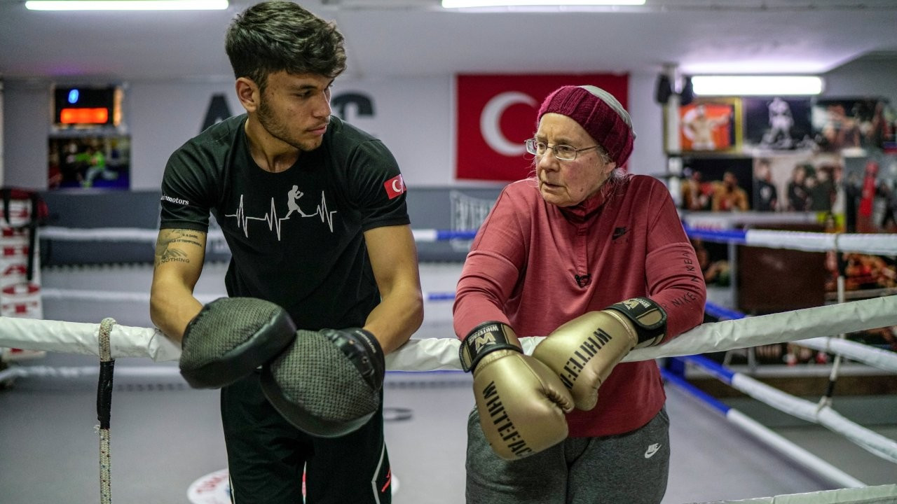 Belgian woman in Turkey fights Parkinson's with non-contact boxing
