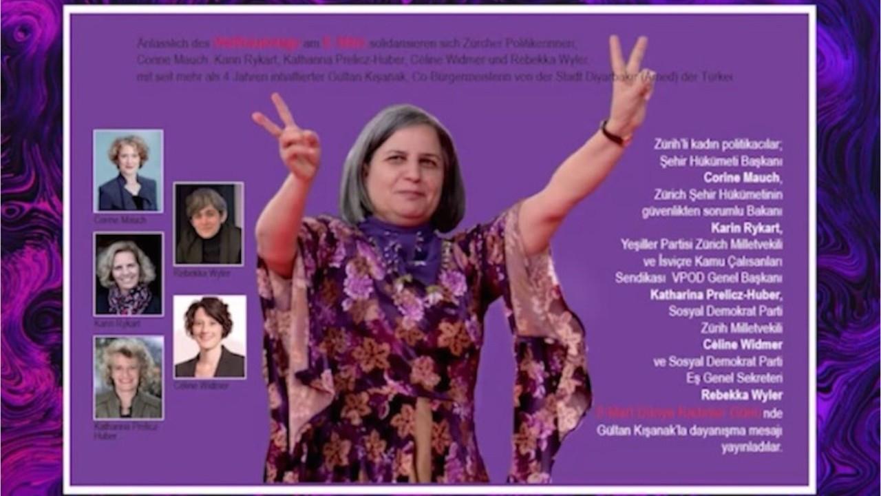 Swiss politicians release message of solidarity with veteran Kurdish politician Gültan Kışanak on Women's Day