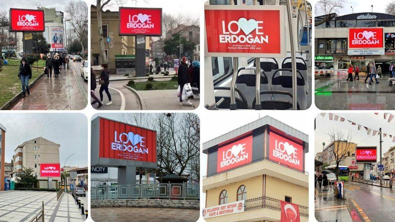 'Love Erdoğan' billboards pop up across Turkey to counter ad in US