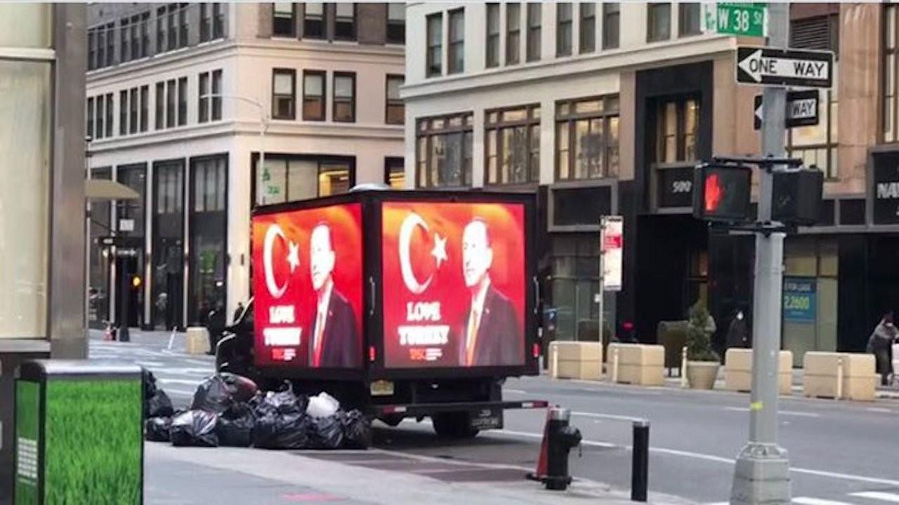 Truck displaying 'Love Erdoğan' message drives around New York