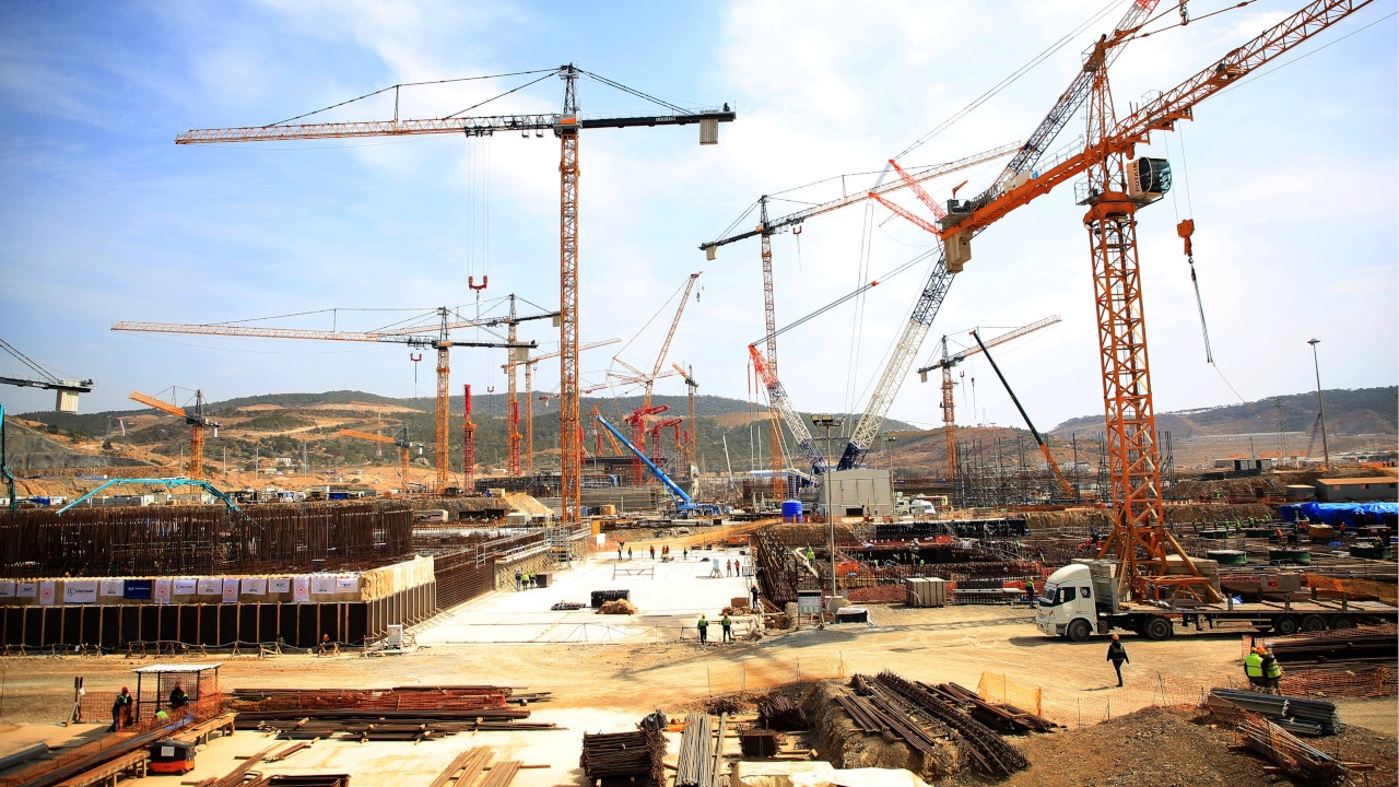 : A general view of the construction site of Akkuyu Nuclear Power Plant