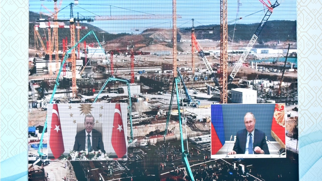 Erdoğan, Putin remotely launch construction of 3rd reactor at Akkuyu nuclear power plant