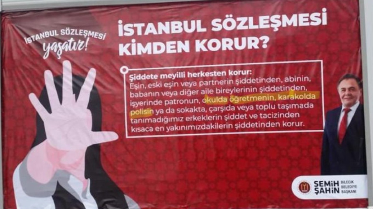 Mayor probed over poster defending Istanbul Convention