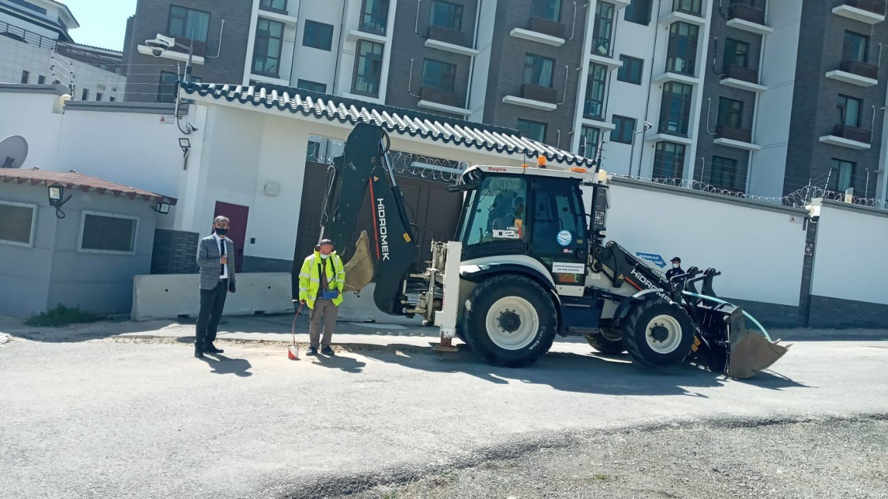 Ankara Municipality begins city works in front of Chinese embassy