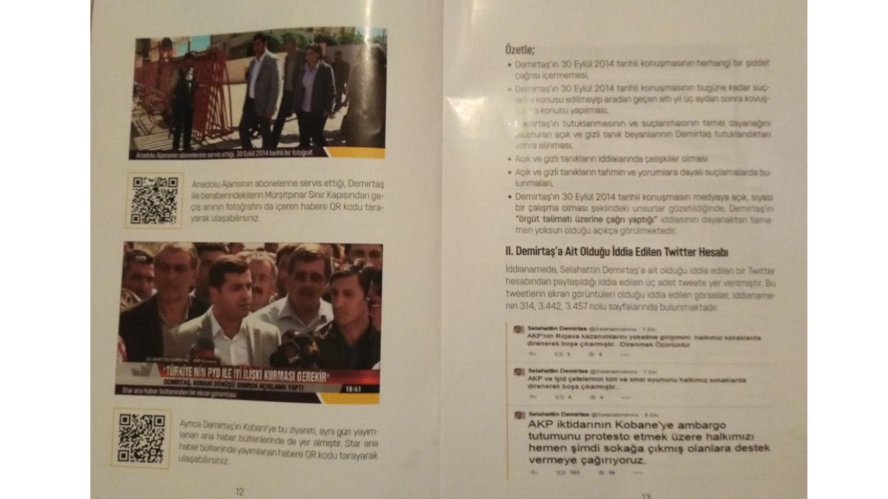 Booklet on former HDP co-chair Demirtaş