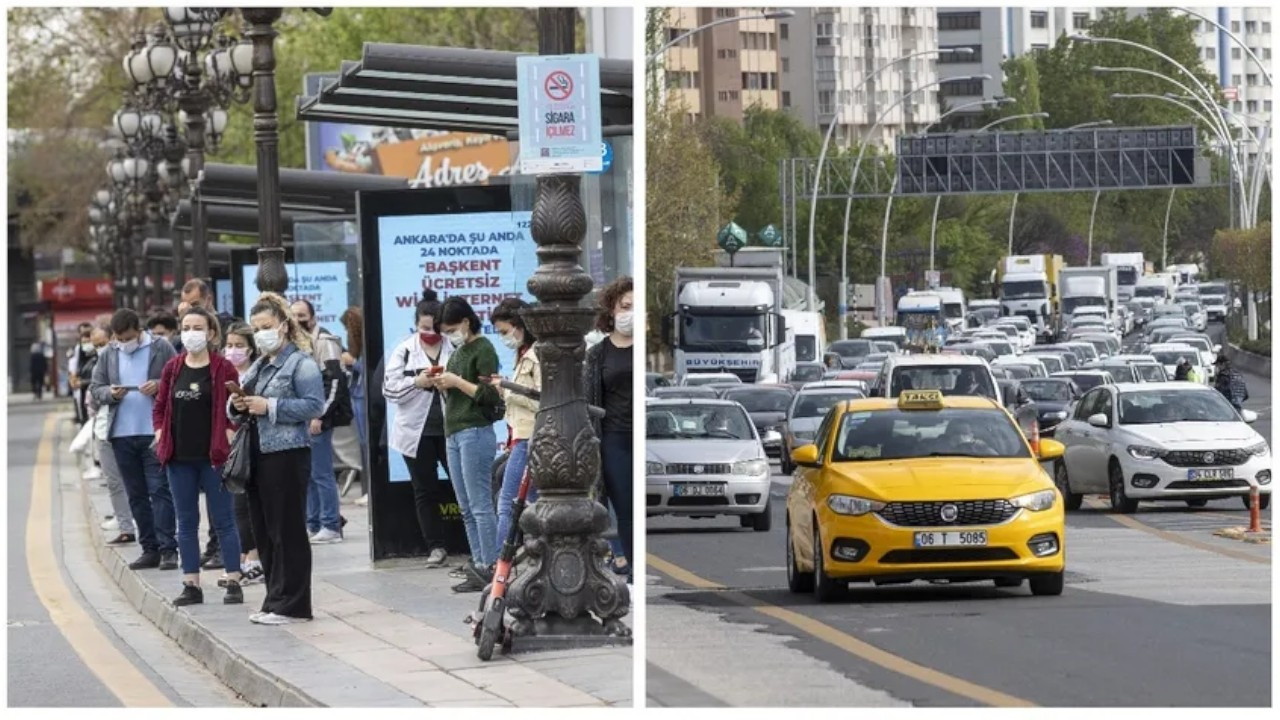Istanbul experiences traffic jam on first day of COVID-19 full lockdown
