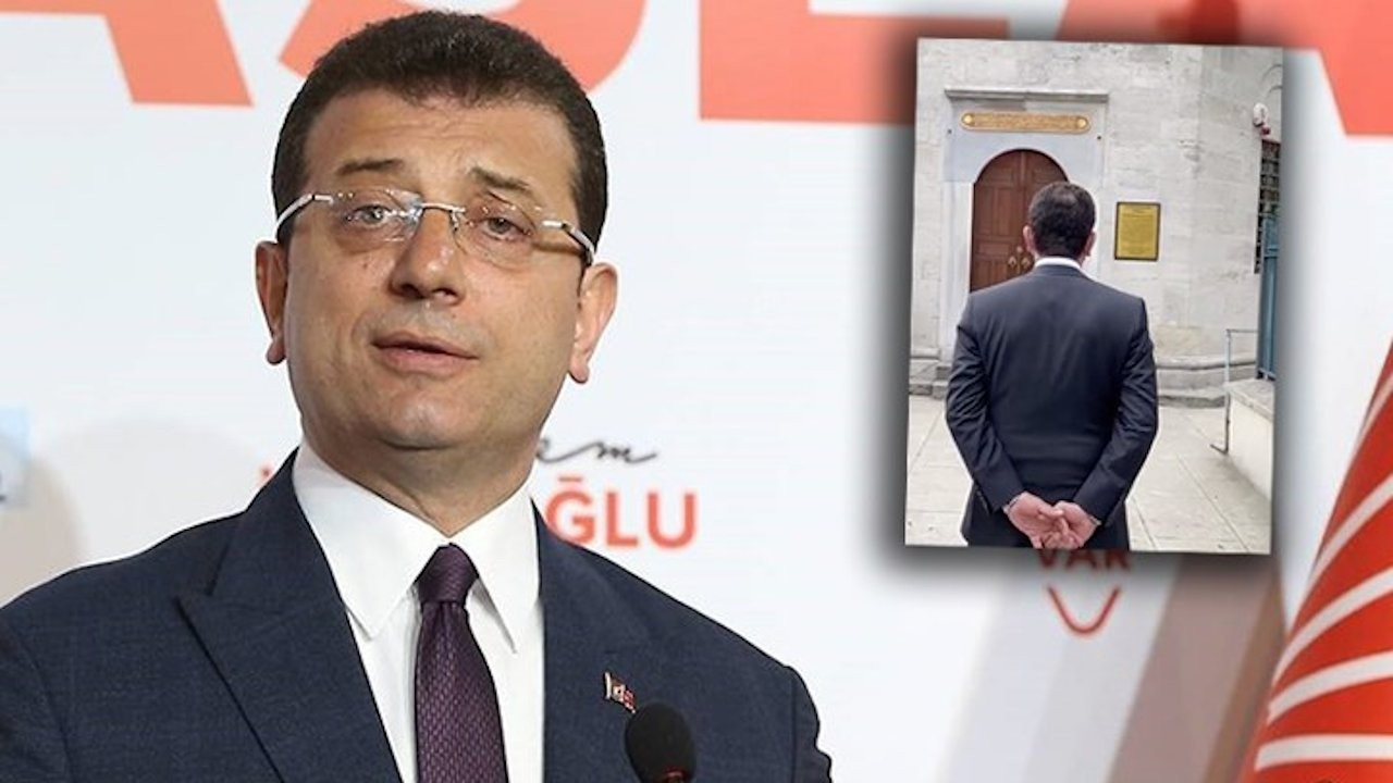 Probe launched into İmamoğlu for holding hands behind back in shrine