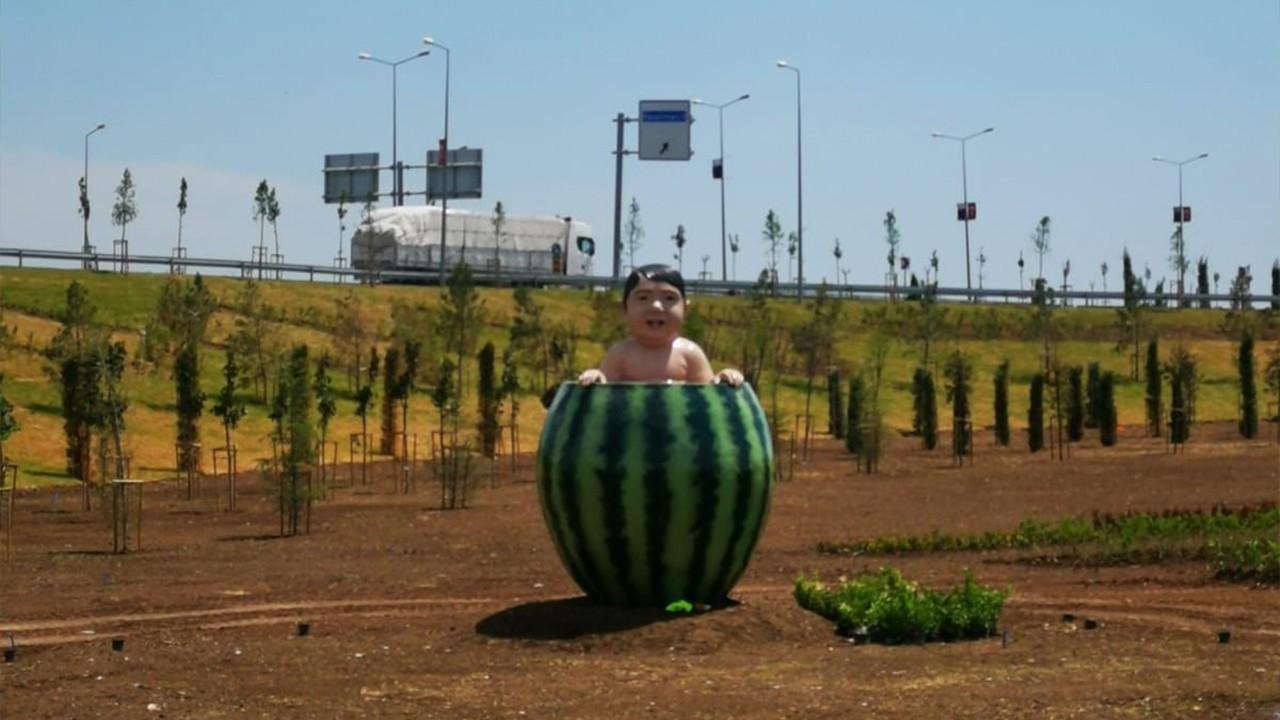 Watermelon baby statue in Diyarbakır joins Turkey's bizarre artworks