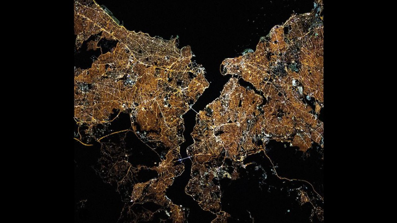 NASA shares aerial view of Istanbul at night: You're glowing!