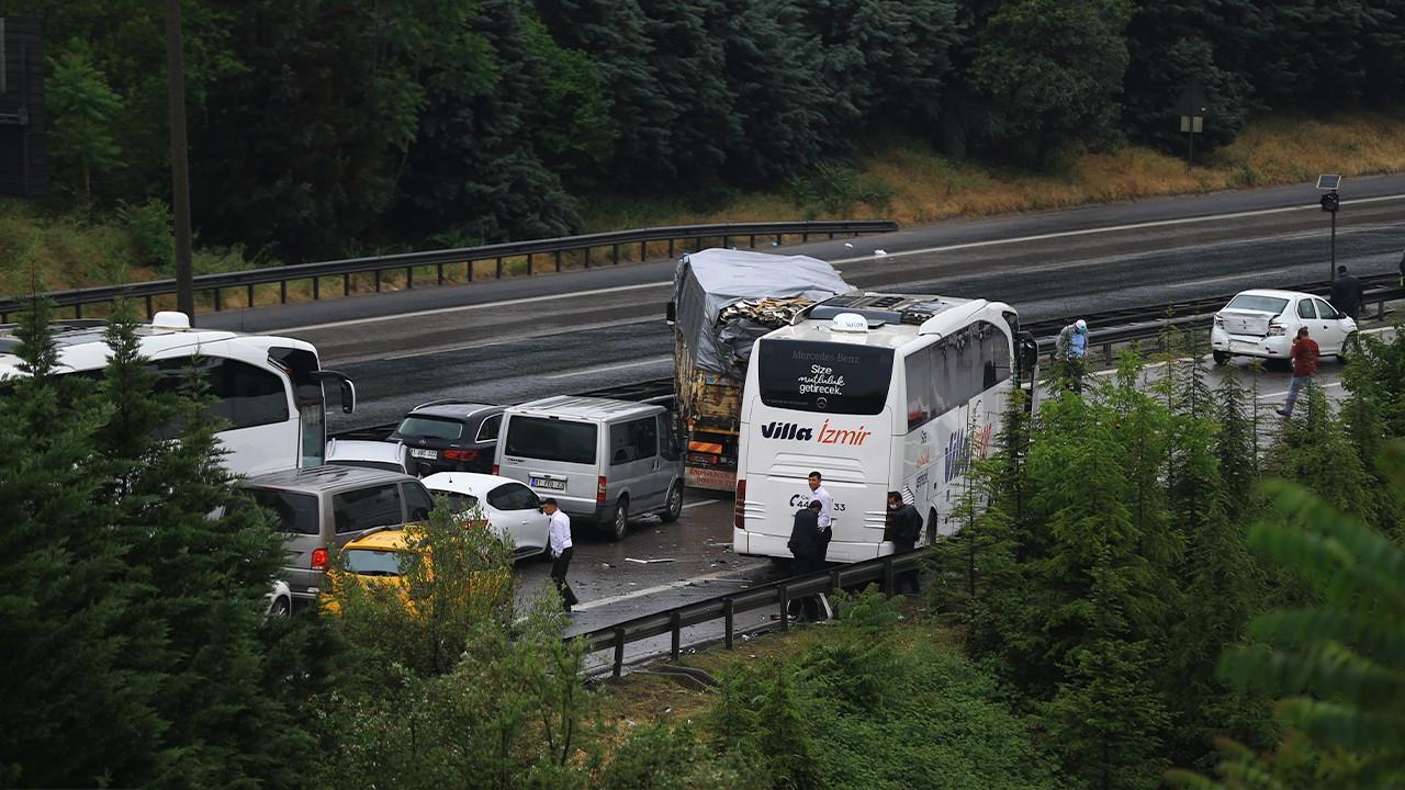 Dozens injured in 24-car pileup on western Turkey highway