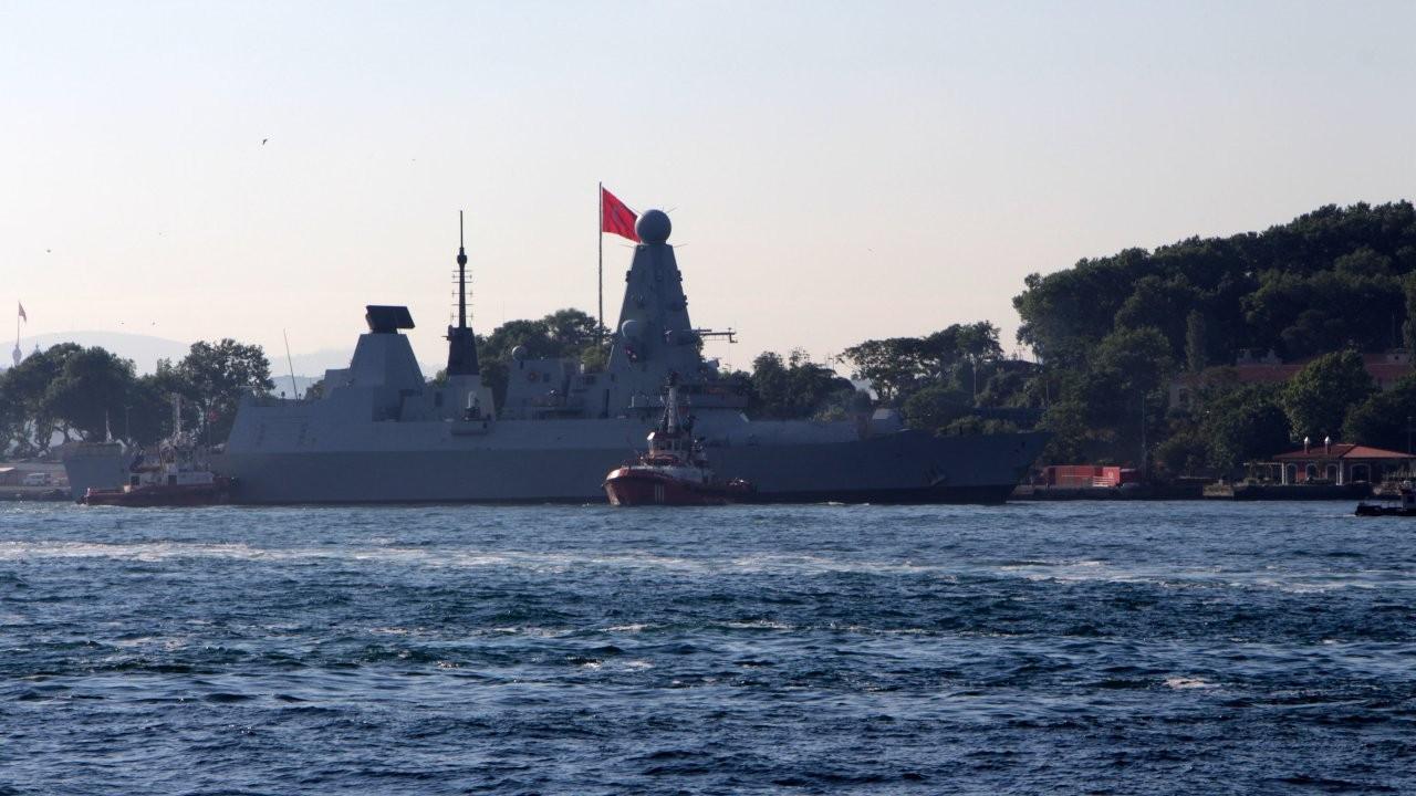 British warship docks at Istanbul