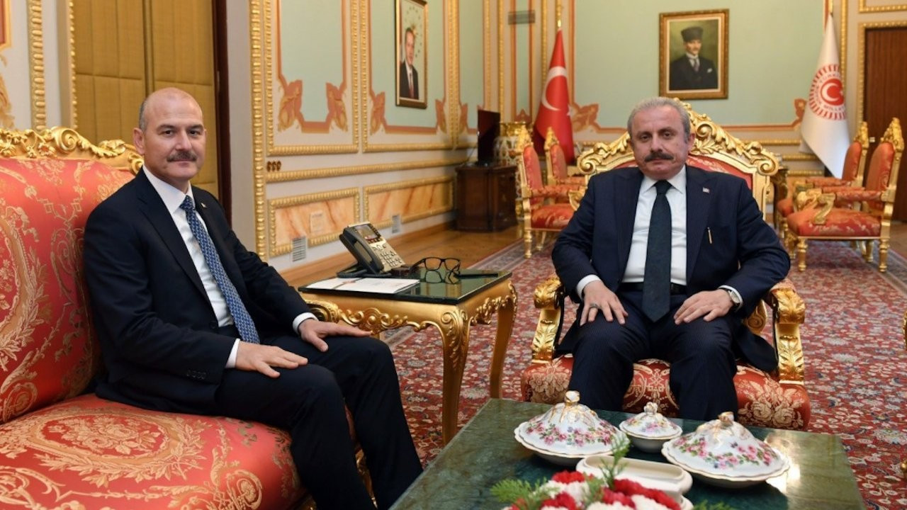 Minister Soylu meets with parliament speaker amid mafia controversy
