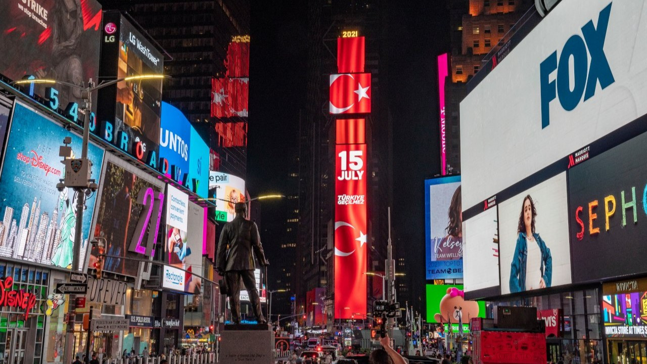Turkey airs messages on Times Square billboards to mark 2016 coup bid