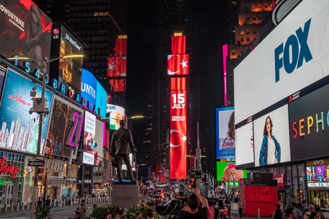 Turkey airs messages on Times Square billboards to mark 2016 coup bid - Page 1