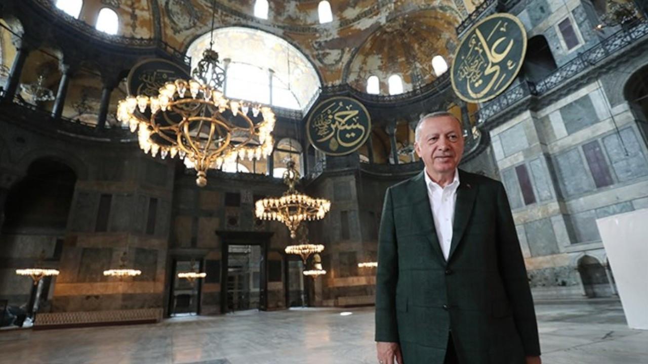 Calls to prayers will never abandon Hagia Sophia: Erdoğan