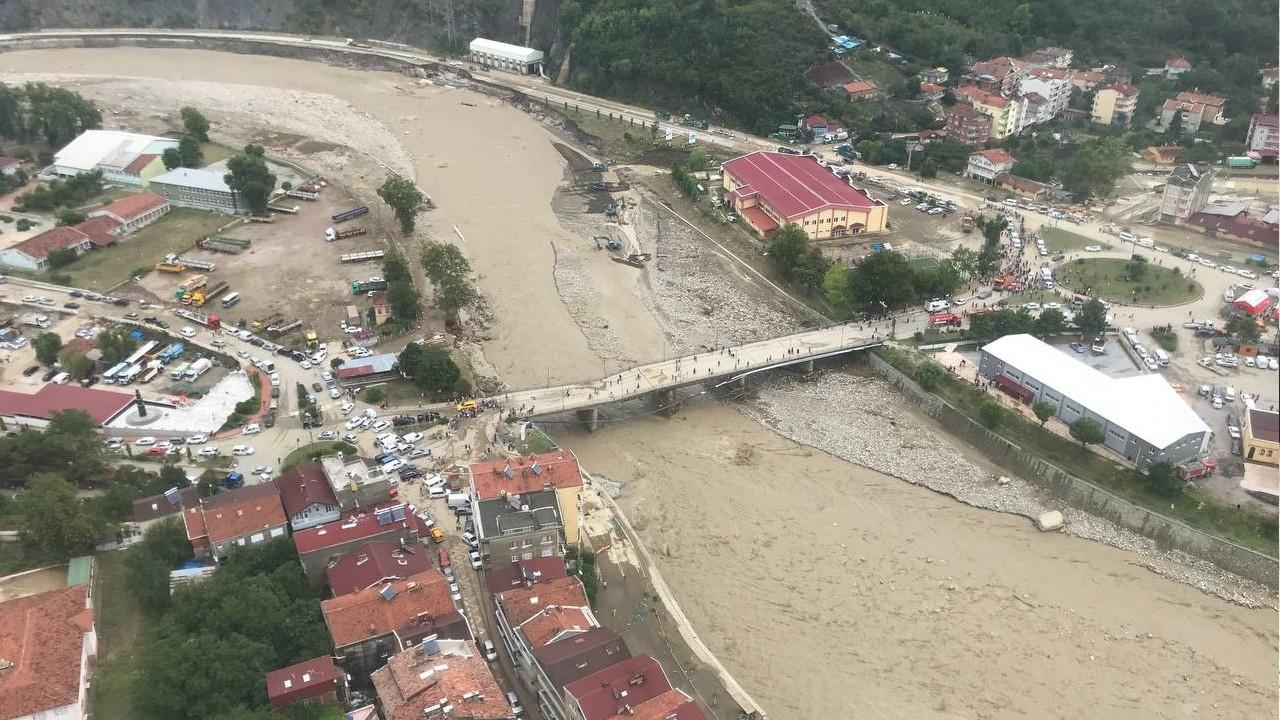 Pictures show devastation after flash floods in northern Turkey