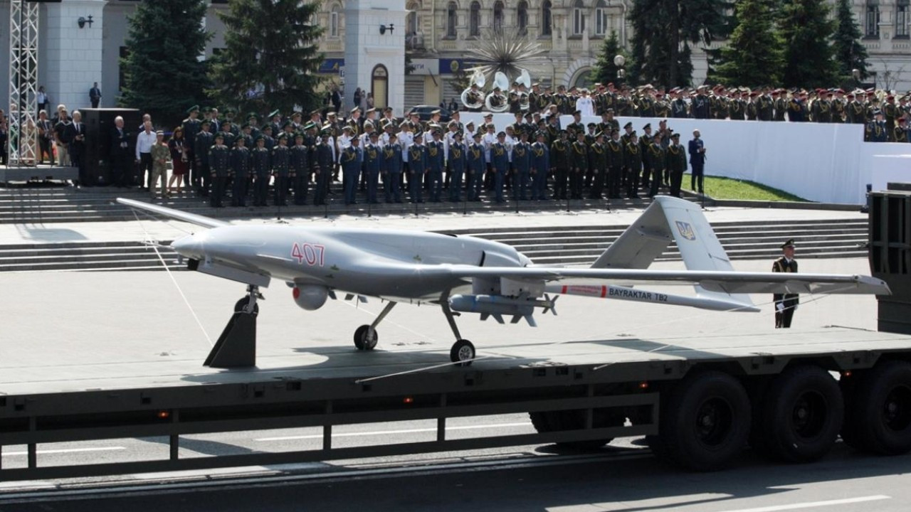Turkish drones displayed at Ukraine's Independence Day parade