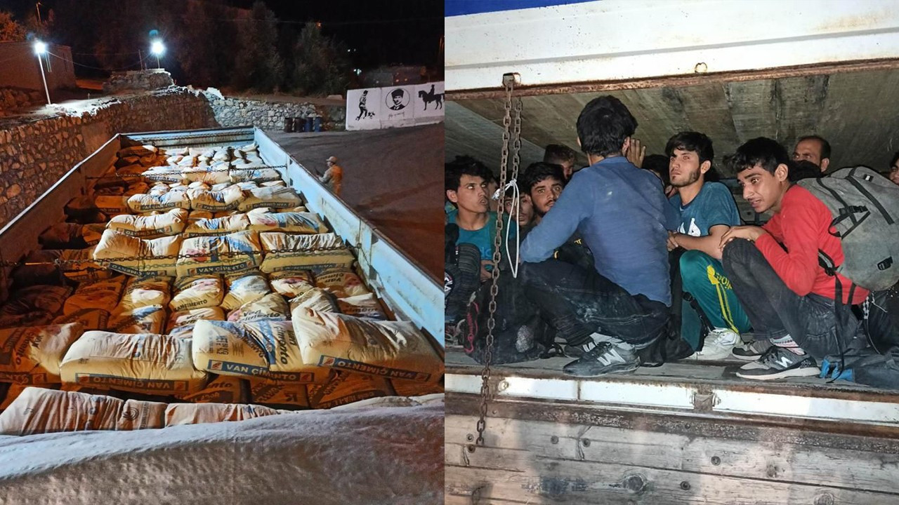 78 migrants found hiding under cement bags in lorry in eastern Turkey
