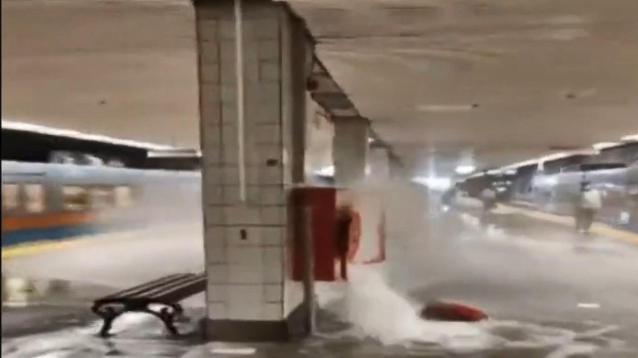 Istanbul metro station flooded after water valve malfunction