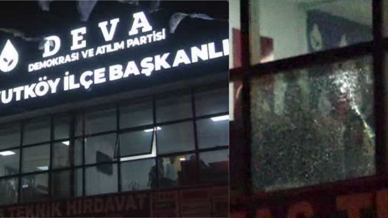 Turkish opposition DEVA's district office subjected to armed attack