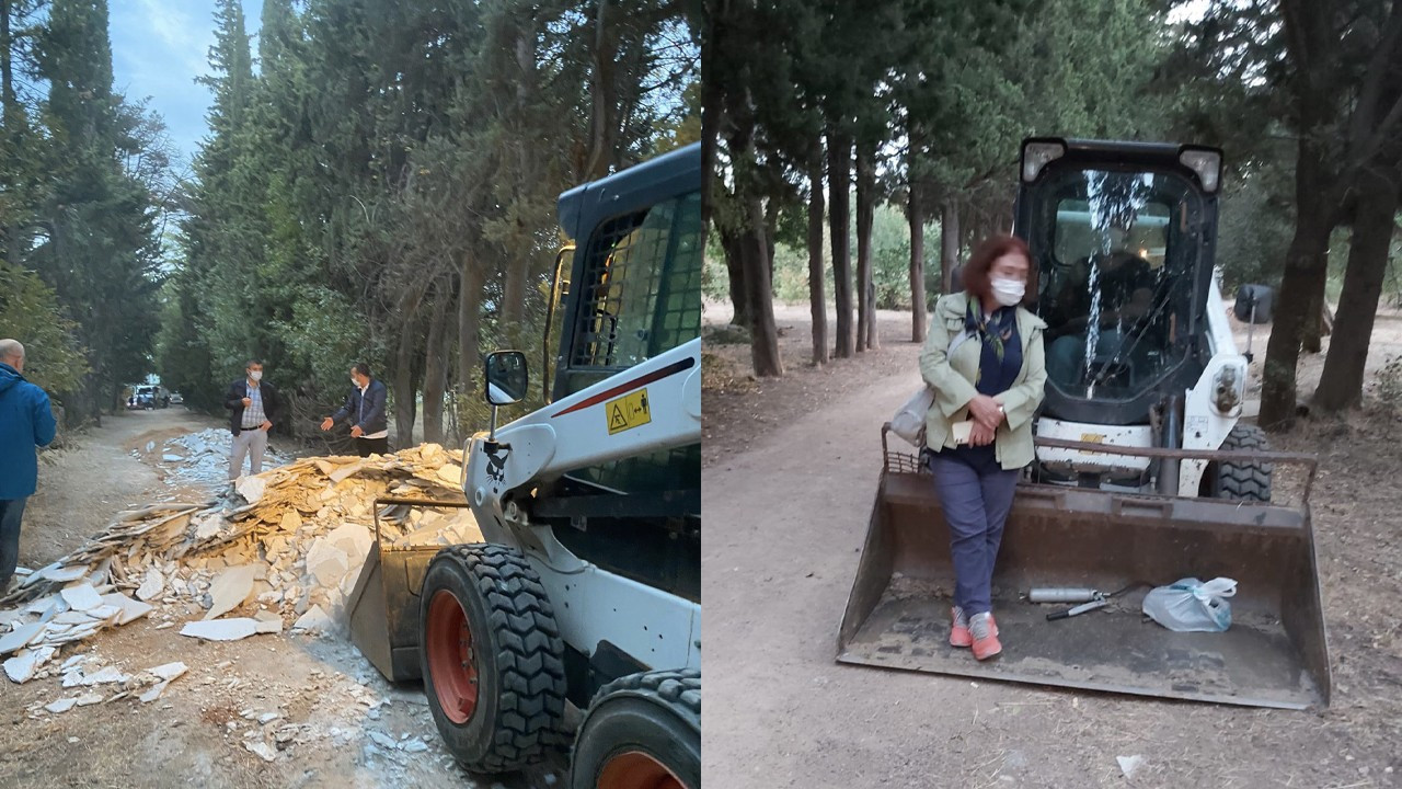 AKP municipality dumps debris in Istanbul grove in dawn raid