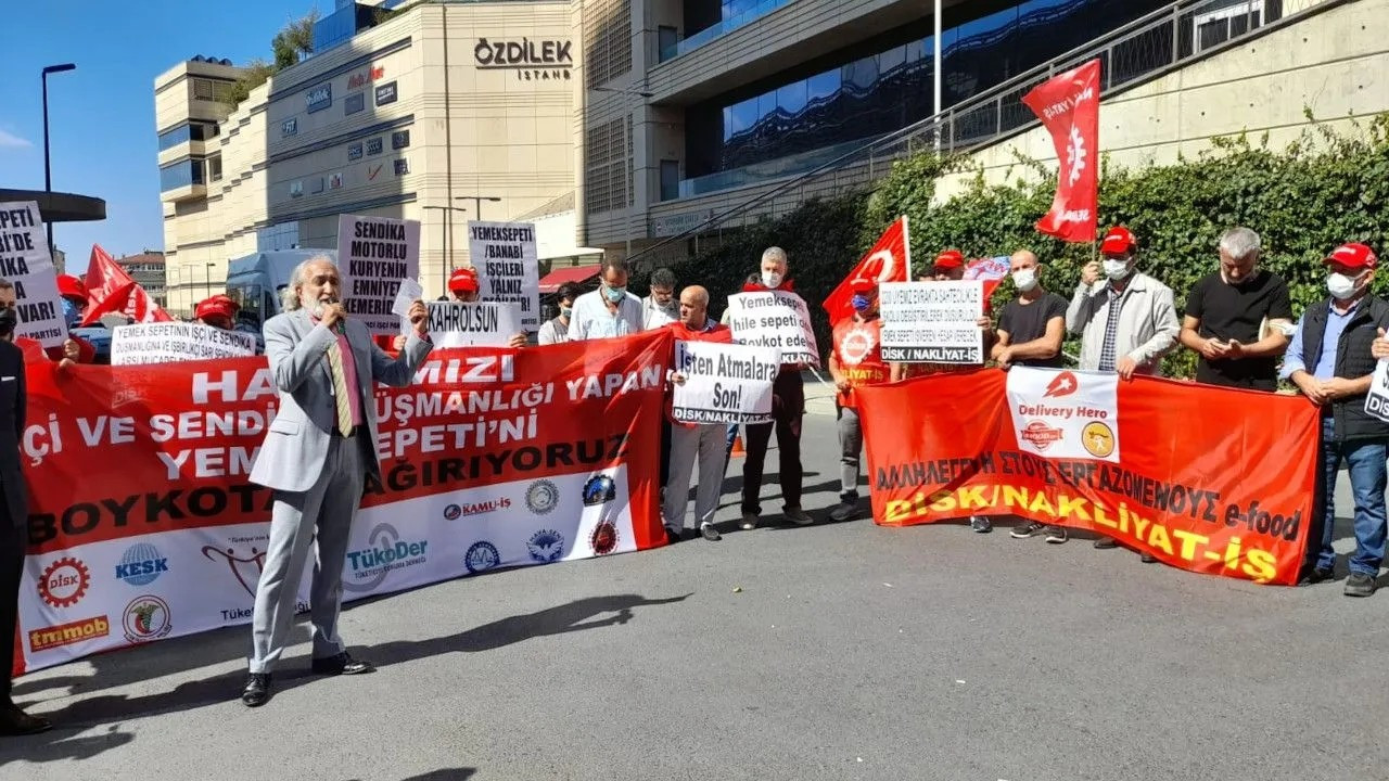 Turkey's biggest food delivery service Yemeksepeti violates workers' right to unionize