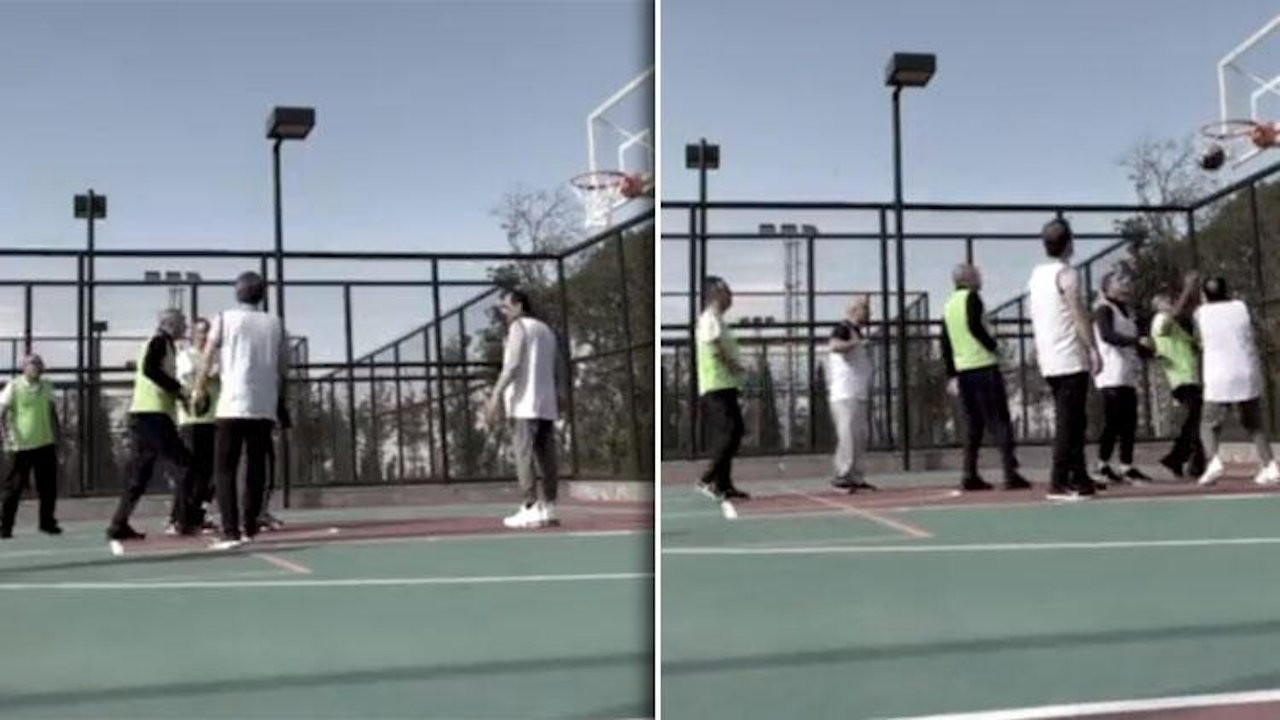 Aide shares footage of Erdoğan playing basketball following sickness rumors