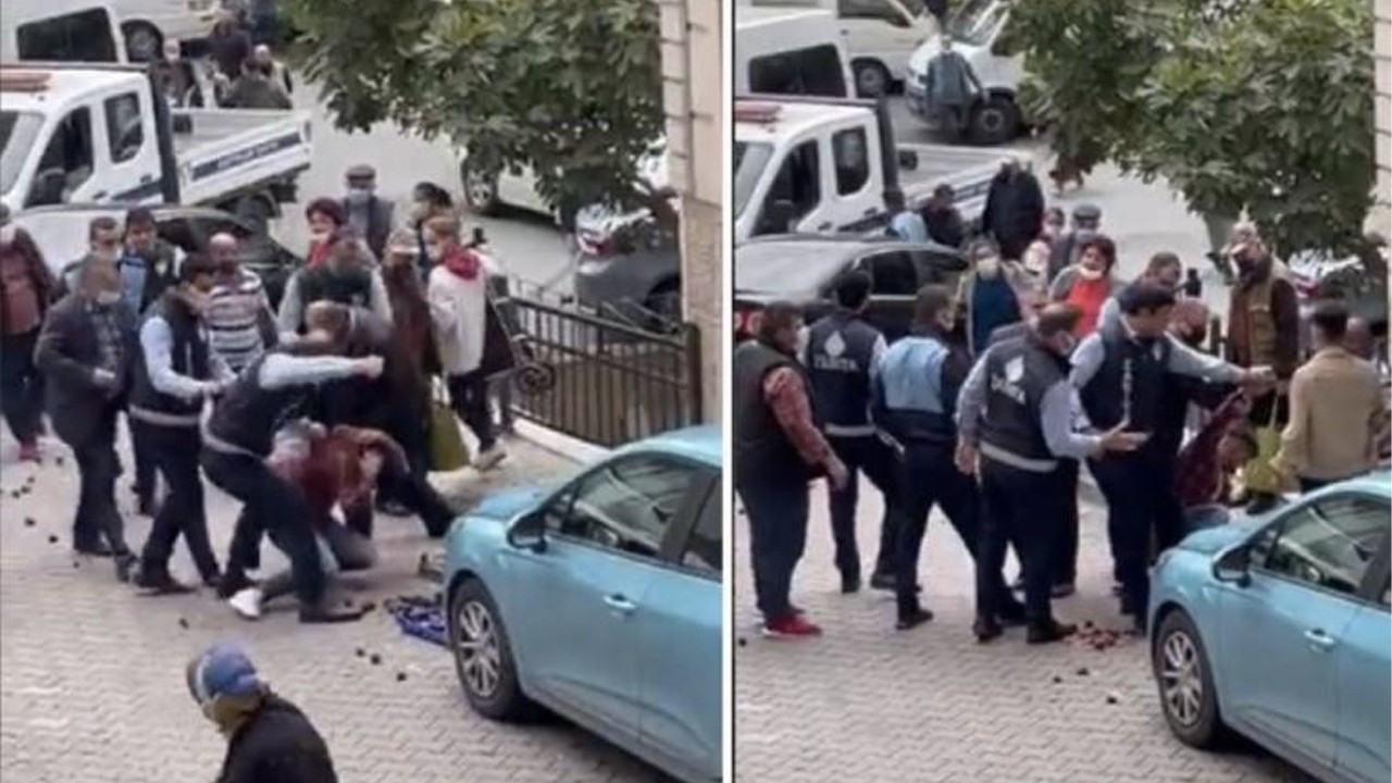 AKP municipality's police assault young street vendor selling fruit