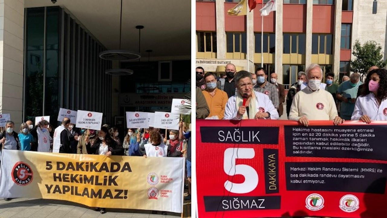 Doctors protest reduction of medical examination duration in Turkey