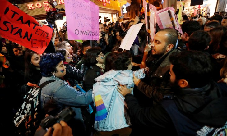 Istanbul police disperse demonstrators demanding end to violence against women