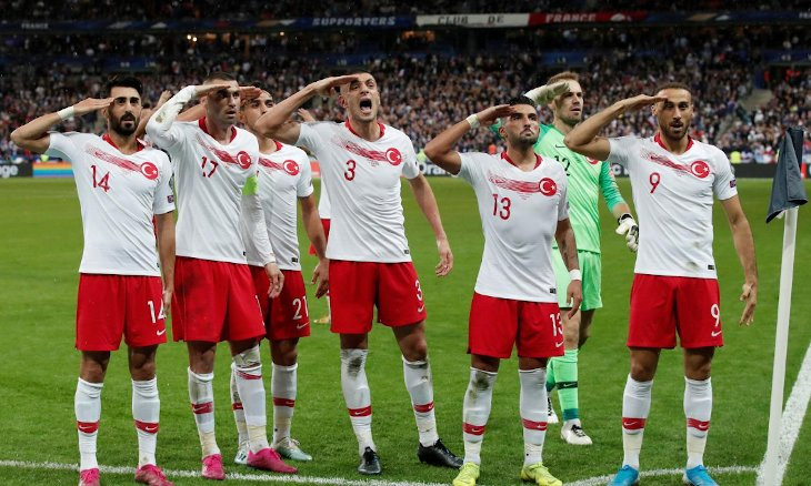 UEFA reprimands Turkey over footballers' military salutes