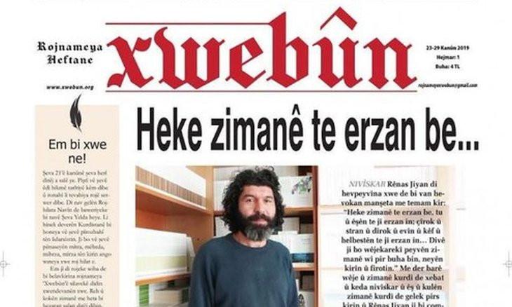 Kurdish weekly Xwebûn starts publication
