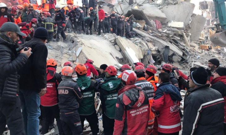 How was the earthquake relief money spent in Elazığ?