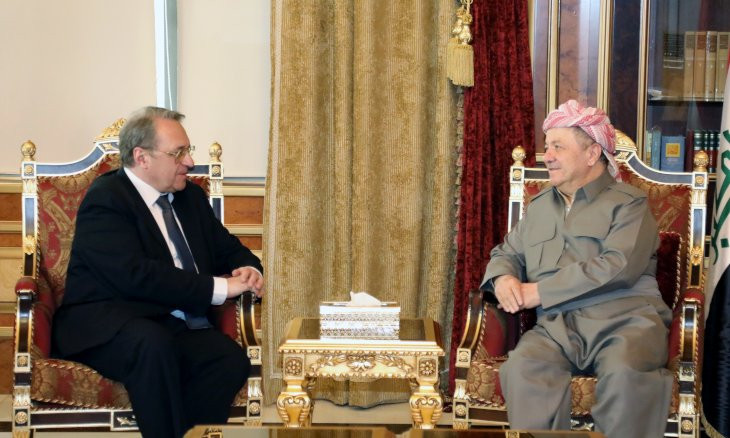 Barzani expresses concern for Syrian Kurds' future in meeting with Russians